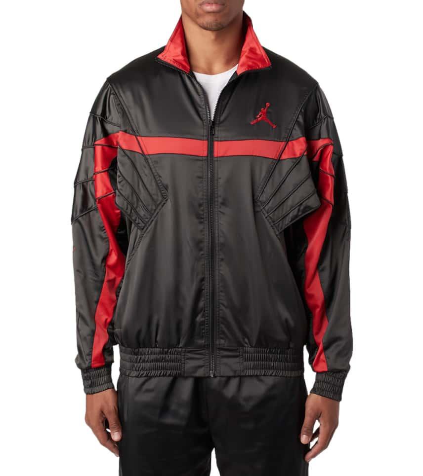 6d3cb3a3efbed4 Jordan Air Jordan Satin Jacket (Black) - AR3130-010