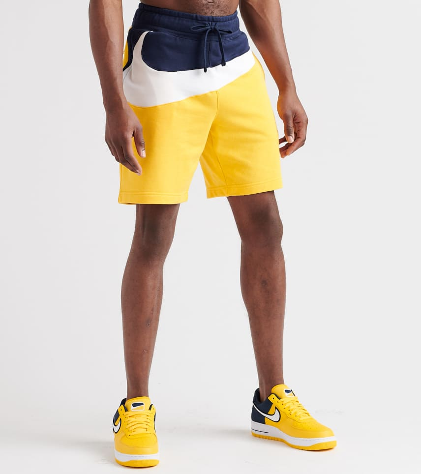 Nike Swoosh Fleece Shorts (Yellow) - AR3161-728  d0532d0a6
