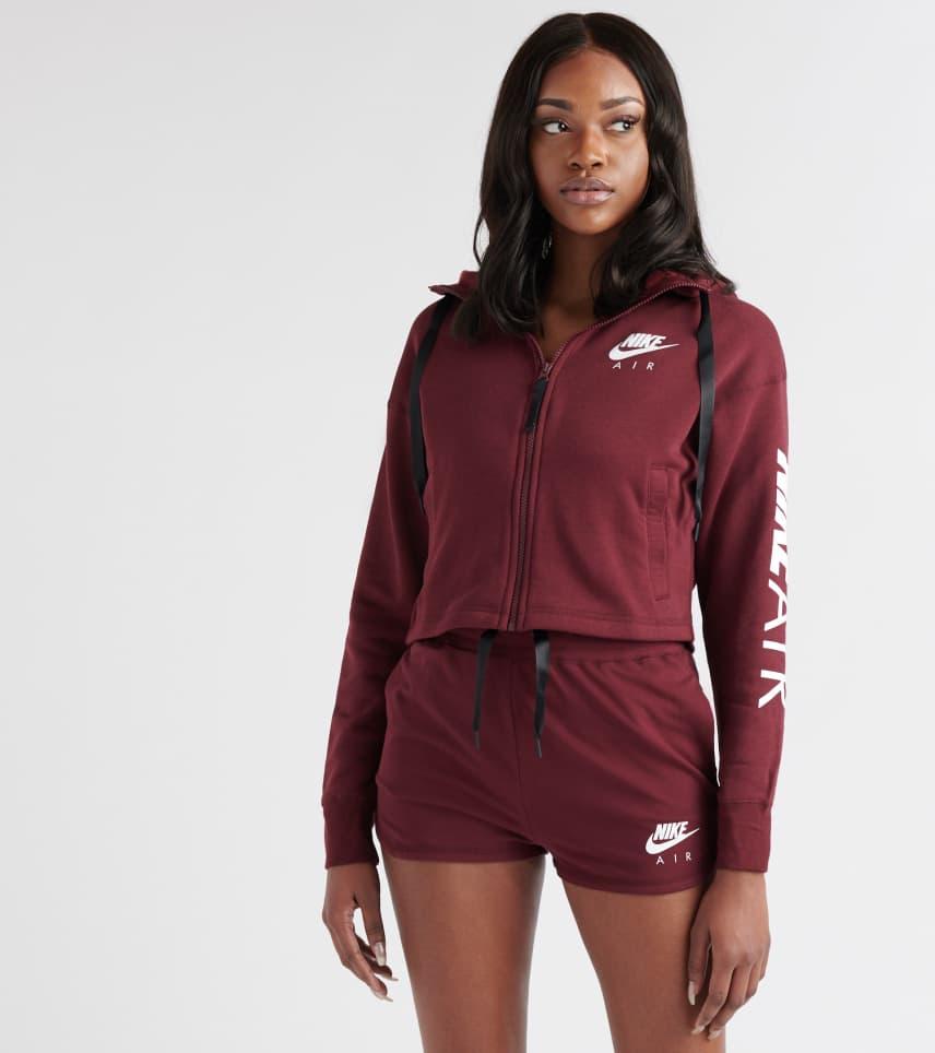 c13deba784b5 Nike Air Full-Zip Hoodie (Burgundy) - AR3656-681