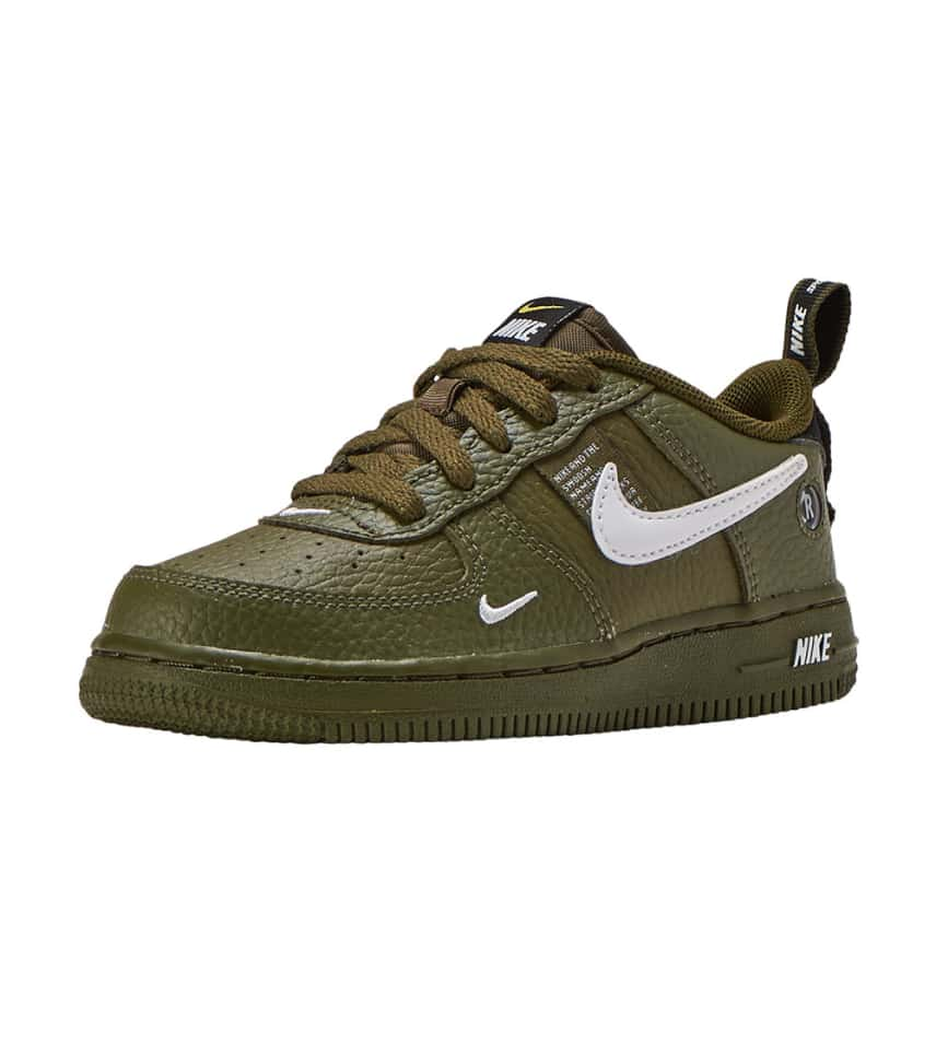 a0101212e Nike Air Force 1 Low LV8 Utility. $29.95orig $52.00. COLOR: Olive/White/ Black/Yellow