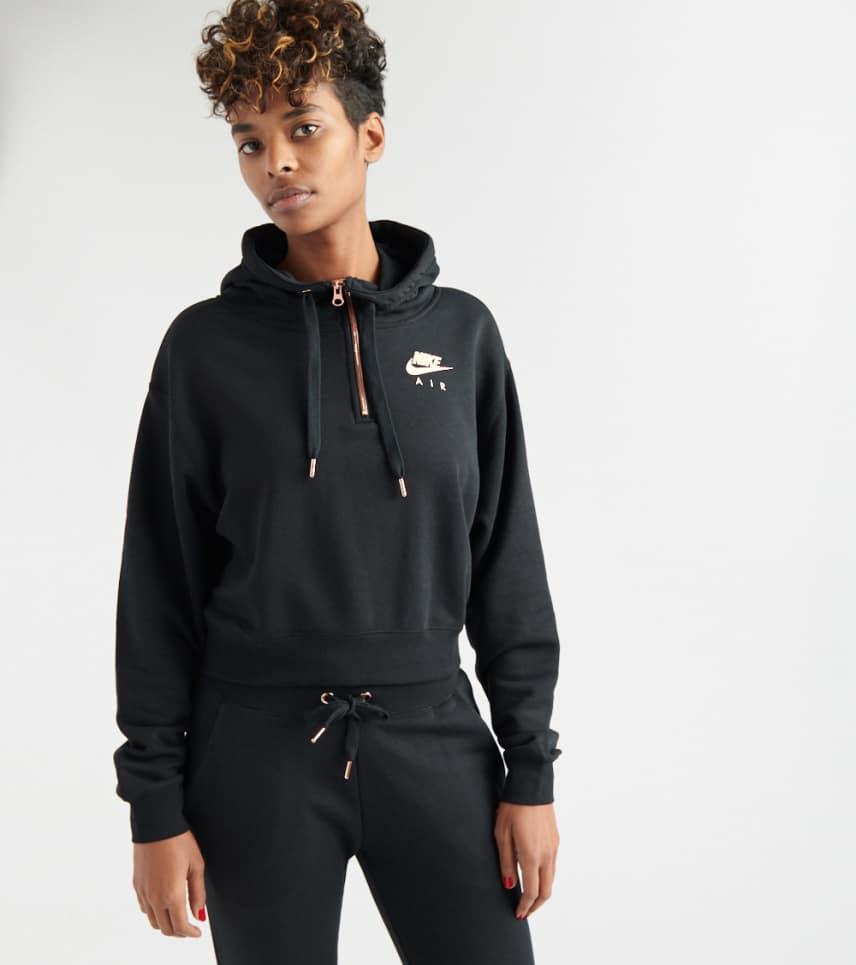c7f825c9dad1 Nike Air Half Zip Crop Hoodie (Black) - AV4915-011