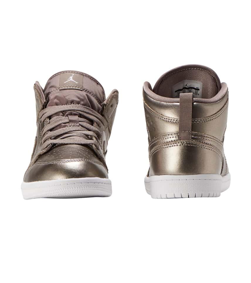 f7aef9d2b704a3 Jordan 1 Mid SE Sneaker (Silver) - AV5173-200