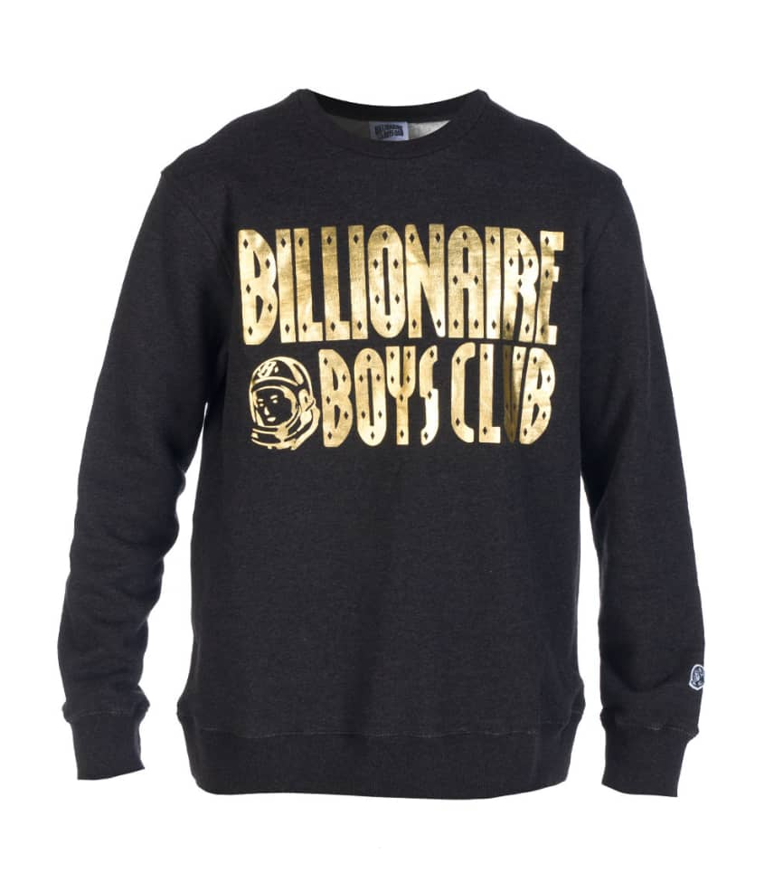 7cc84d7c8568 BILLIONAIRE BOYS CLUB HEATHER LOGO CREW SWEATSHIRT (Dark Grey ...