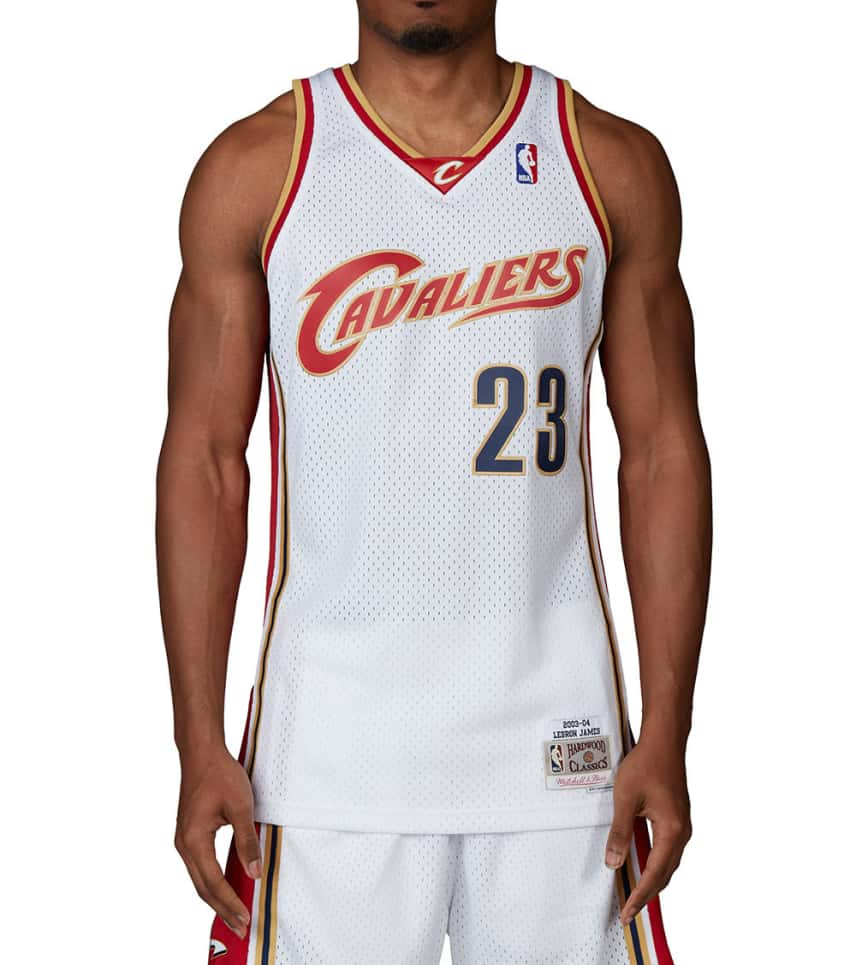 8f2ba8efab5 Mitchell and Ness Cleveland Cavaliers 03-04 Lebron James (White ...