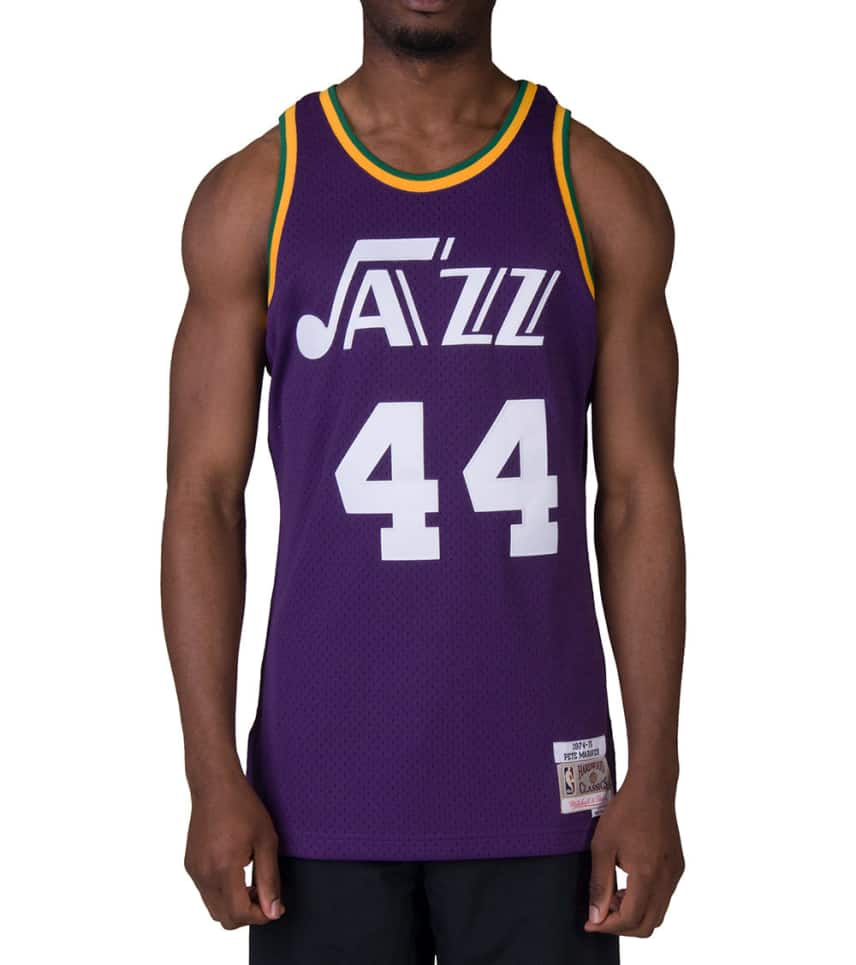 846490fcb Mitchell and Ness Utah Jazz 1974-75 Maravich Jersey (Purple ...