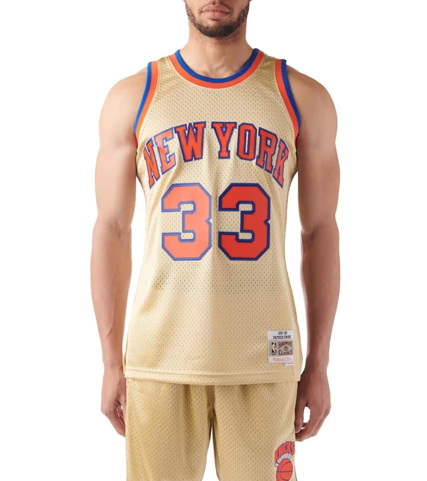 Mitchell and Ness New York Knicks Ewing Swingman Jersey (Gold ... 2eb6e1d14