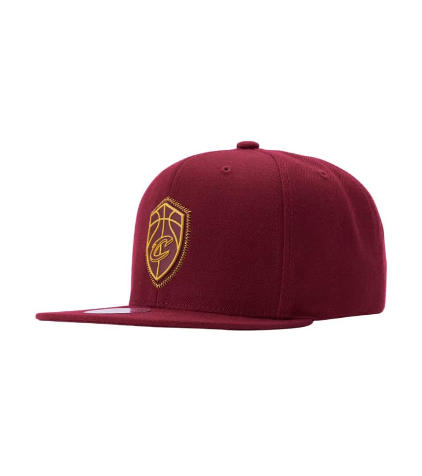 e03032e34bb Mitchell and Ness Cleveland Cavaliers Zig Zag Hat (Burgundy ...