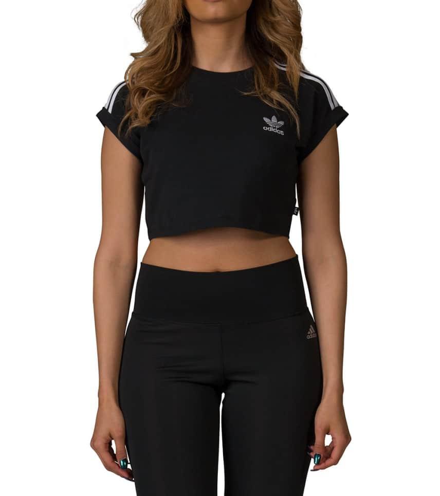 fccc5eb2b3e Adidas 3 Stripe Crop Tee (Black) - BJ8178-001   Jimmy Jazz