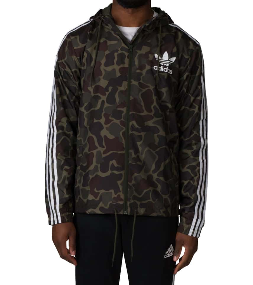 33cdd75e020a7 Adidas CAMO WINDBREAKER JACKET (Dark Green) - BJ9997-997 | Jimmy Jazz