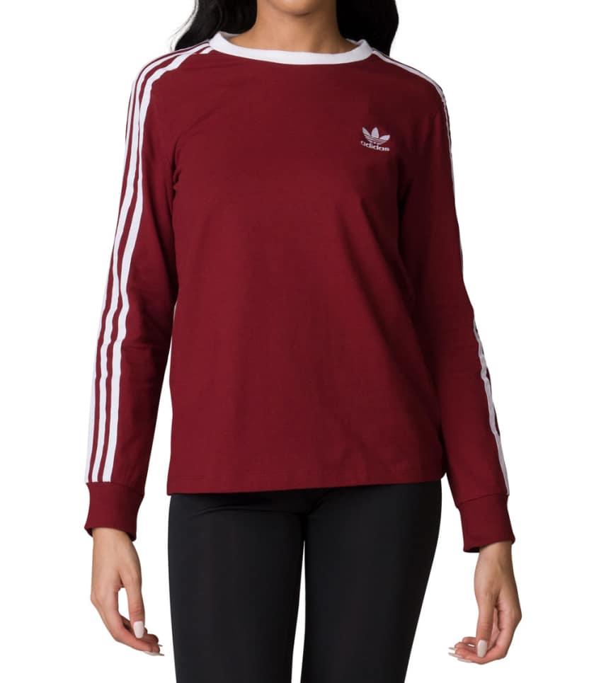 a1f4d23a Adidas 3 Stripe Tee (Burgundy) - BP9511-600 | Jimmy Jazz