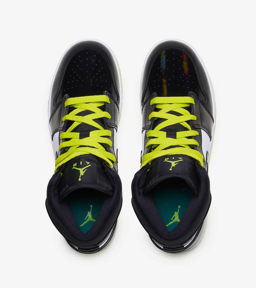 4ee0e70df866bb Jordan 1 Mid Shoe (Black) - BQ6931-003