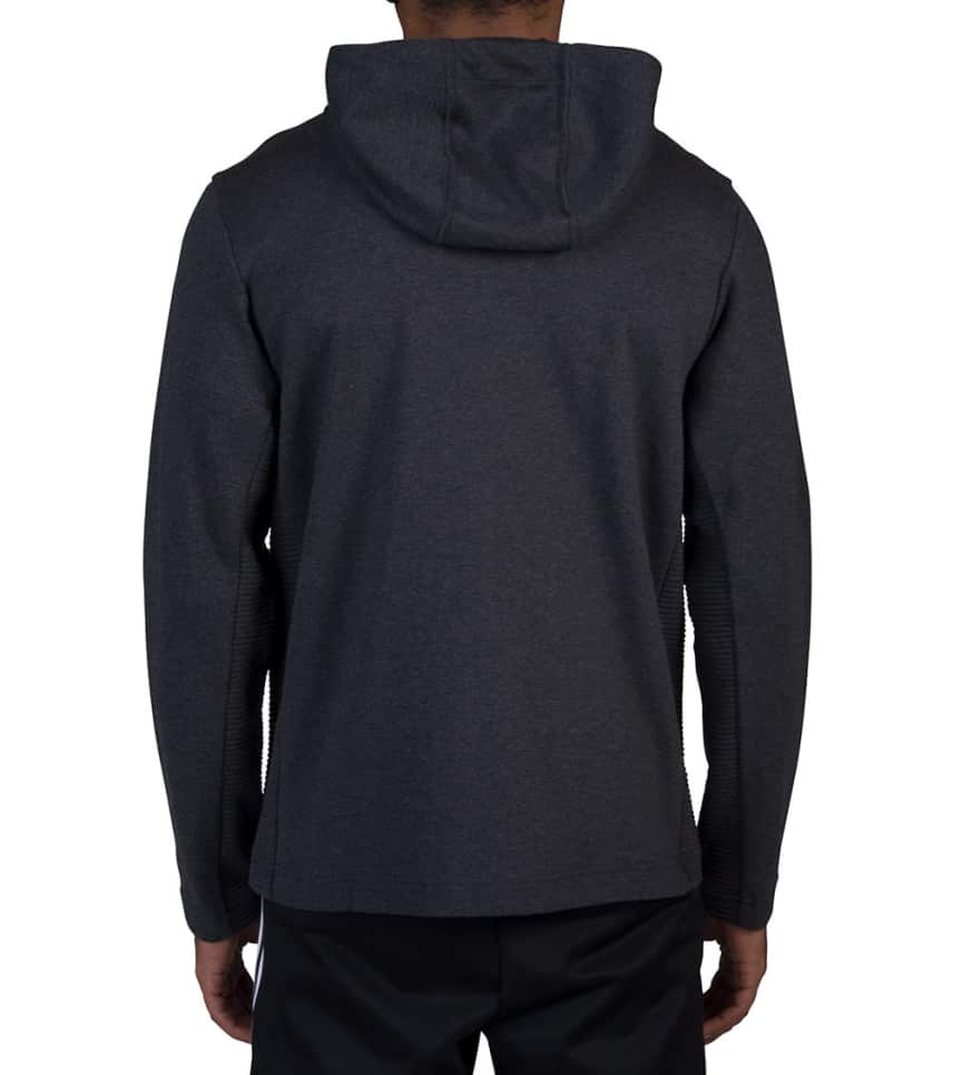Adidas Curated Q3 Full Zip Hoodie Dark Grey Br4249 001 Jimmy Jazz