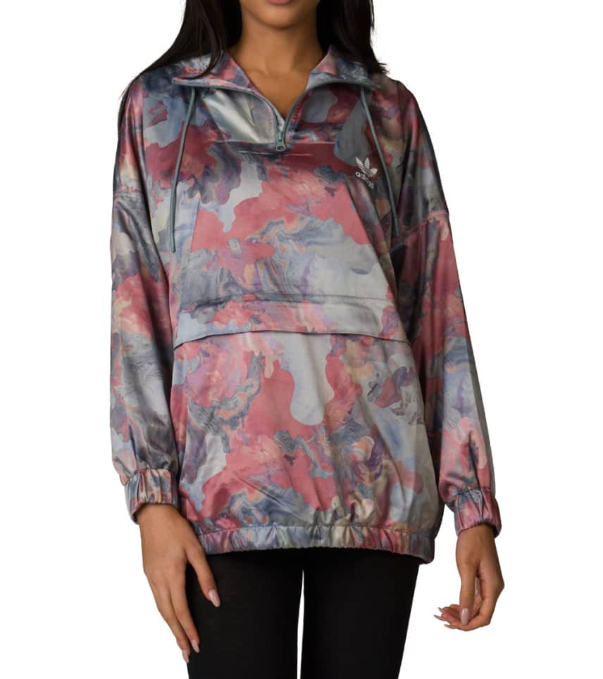 3c4505380026c adidas Past Satin Windbreaker Top (Multi-color) - BR6616-997