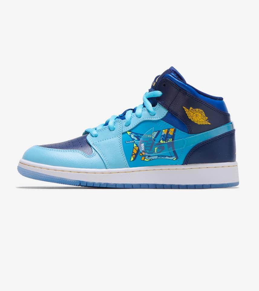 9e2d9707d866d Jordan 1 Mid Shoe (Blue) - BV7446-400