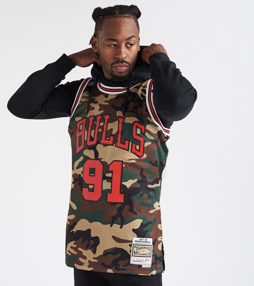 ... Mitchell and Ness - Tank Tops - Woodland Dennis Rodman Jersey ... 4ad7720d98c1