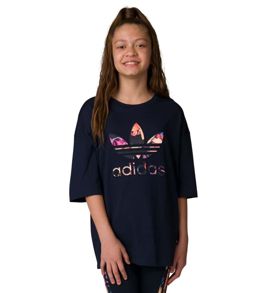 ef93dfaf081 adidas Girls 7-16 Junior Rose Tee (Navy) - CD3040-408