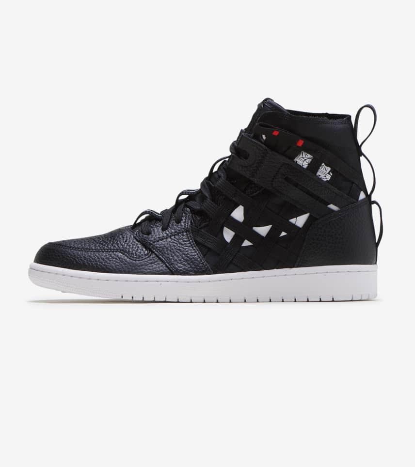 f65e64f29a1efa Jordan 1 Mid Cargo Shoe (Black) - CD6757-001