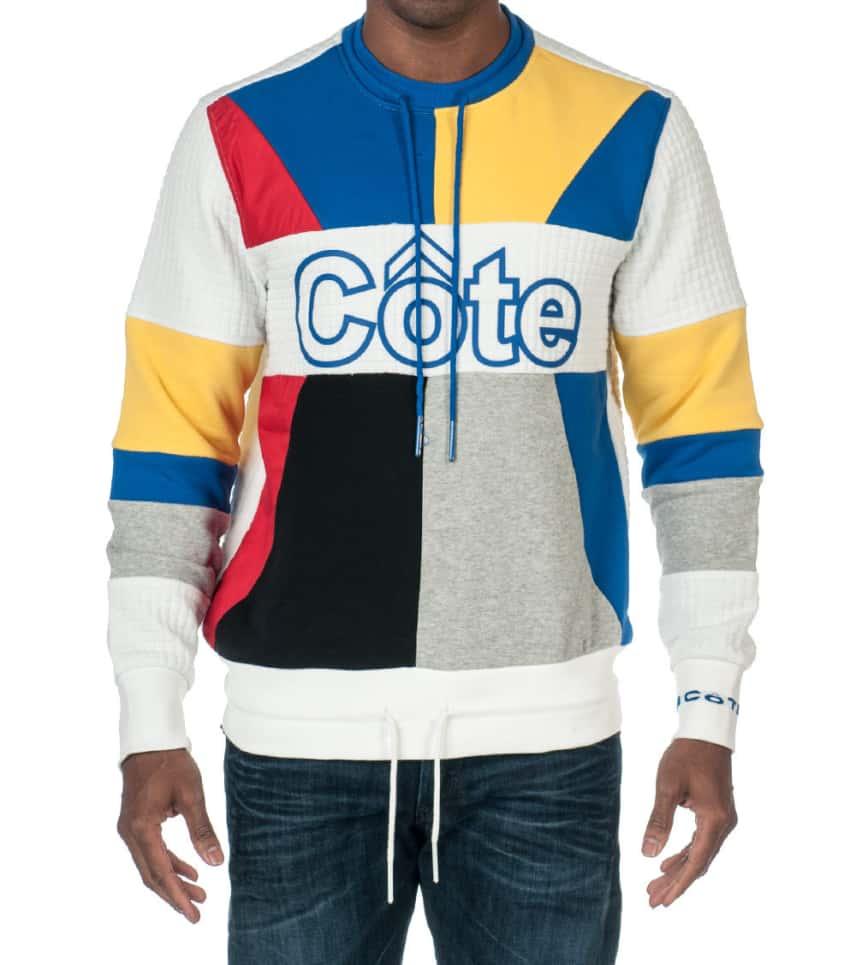 8943b475aa1 COTE DE NUITS COLOR BLOCK FLEECE CREW SWEATSHIRT (White) - CDNKT136 ...