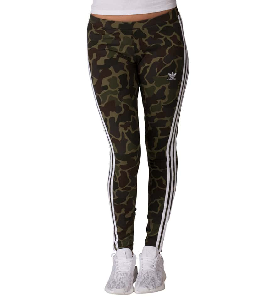 528feecc6466a adidas Camo 3 Stripe Legging (Dark Green) - CG1179-307 | Jimmy Jazz