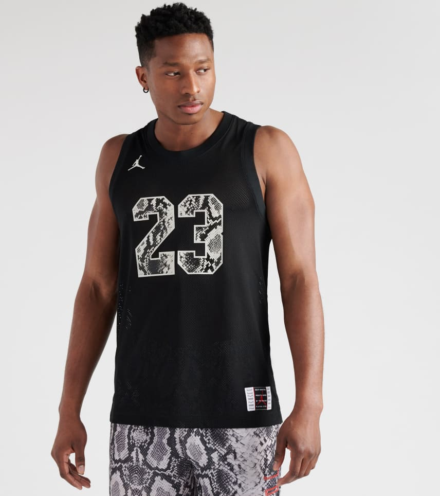 71af6c348d3eea Jordan Legacy AJ 11 Snakeskin Jersey (Black) - CI0304-010