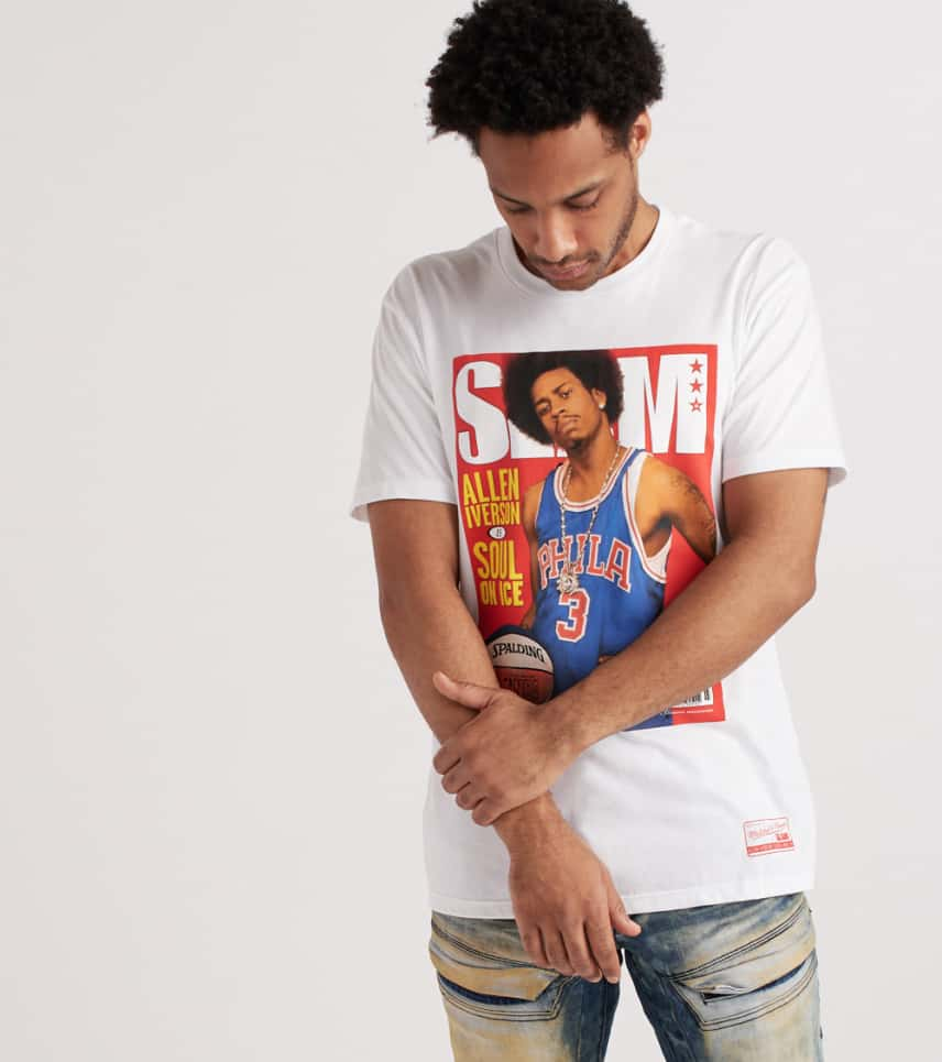 4e36313c023 Mitchell and Ness Slam Cover Allen Iverson Tee (White) - CLBAIV-WHT ...