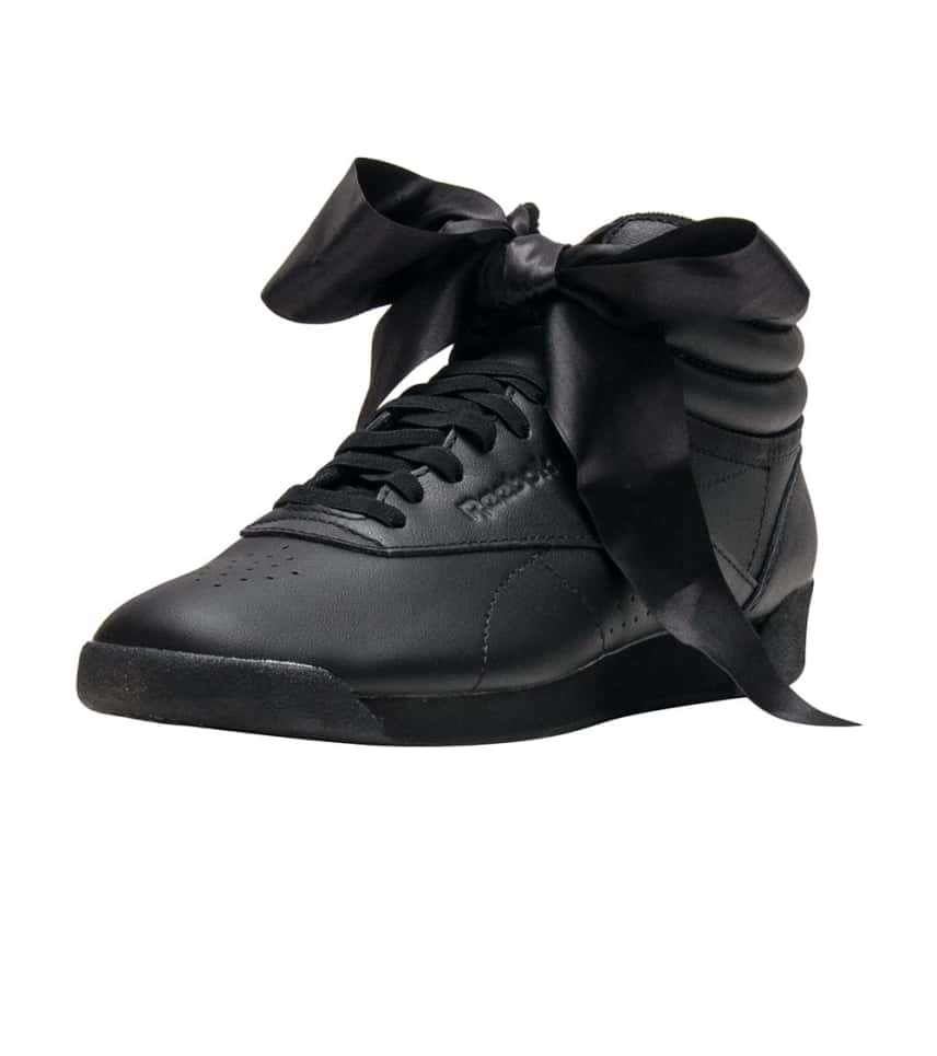 f636b876905ad0 Reebok Freestyle Hi Satin Bow (Black) - CM8904