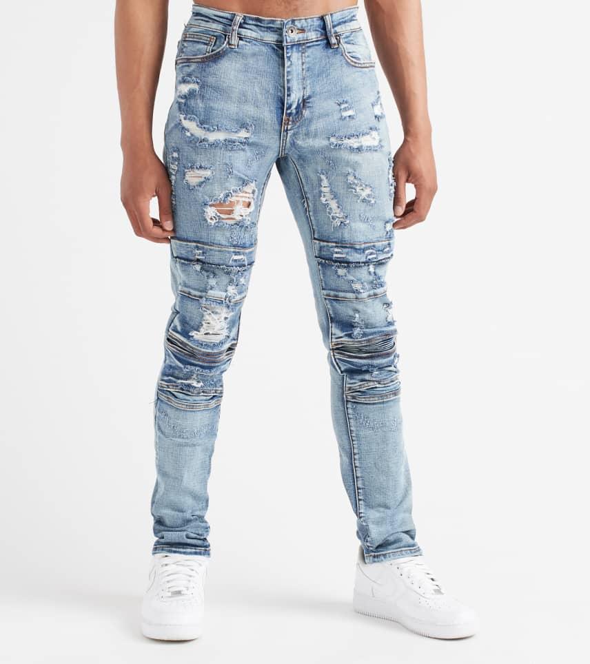 355300949e9c Crysp Ali Biker Jeans (Blue) - CRYSU118-BAC | Jimmy Jazz