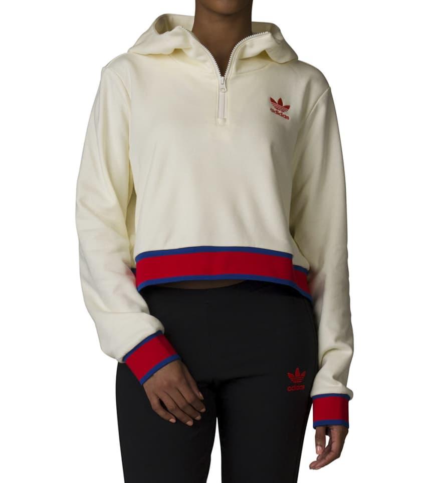 7a7463b99c2 Adidas EA Cropped Hoodie (White) - CV9437-150 | Jimmy Jazz