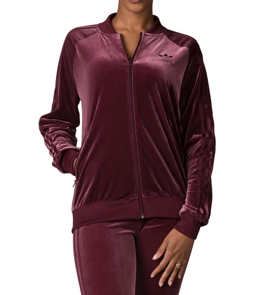5ecbe25c87eb adidas Velvet Track Jacket (Burgundy) - CW0271-610
