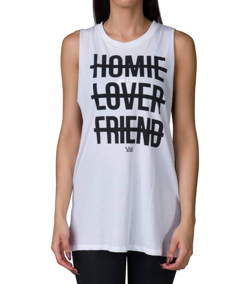 00e953d24137f9 RECKLESS GIRLS HOMIE LOVER FRIEND TANK TOP (White) - CWSU155800 ...