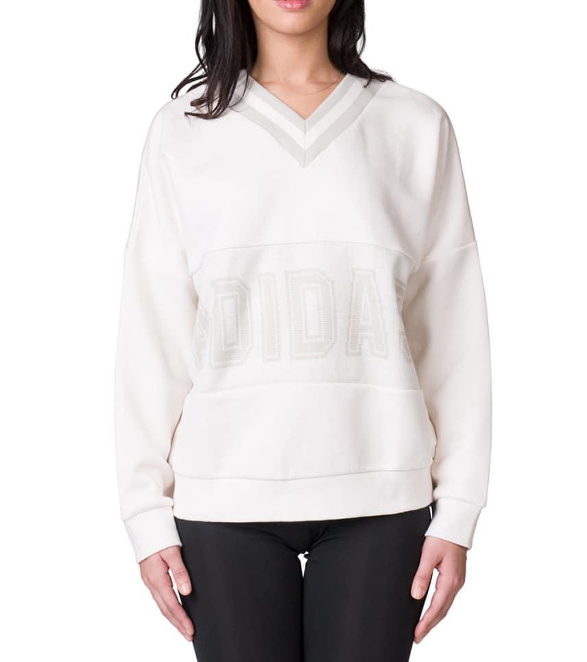 54e4bb66777e adidas Adibreak Varsity Sweater (White) - CY3660-100