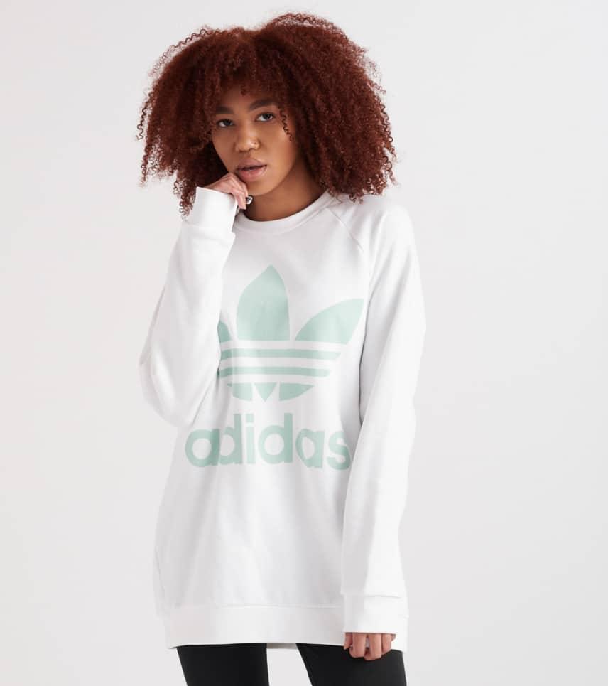 fe8912d235d38f adidas Oversized Trefoil Sweatshirt (White) - CY4757-100