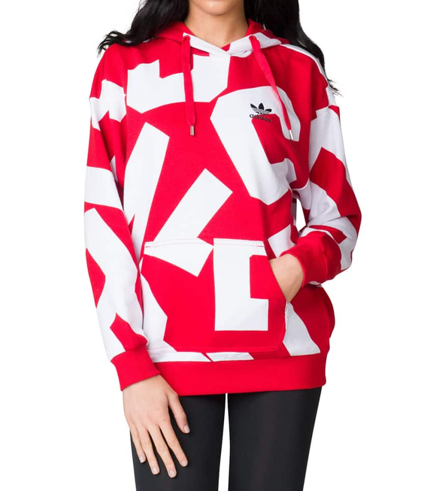 adidas Bold Age PUllover Hoodie (Red) - CY7480-622  1747009da