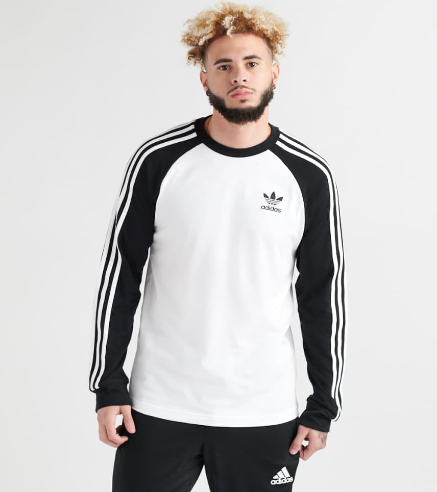 1936f5a729 adidas 3 Stripe Long Sleeve Tee (White) - DH5793-100 | Jimmy Jazz