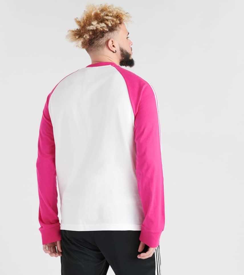 e3c86679 adidas 3 Stripe Long Sleeve Tee (White) - DH5799-674 | Jimmy Jazz