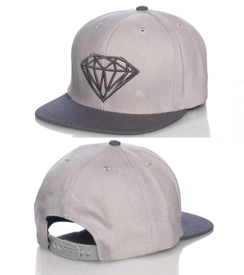da395ebb1bcbd1 Diamond Supply Company DIAMOND LIFE SNAPBACK CAP (Grey) - DLIFE ...