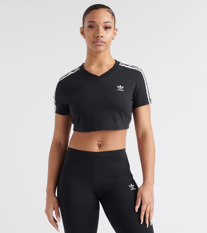 2f479aaad7e adidas Cropped 3-Stripes Tee (Black) - DV2622-001   Jimmy Jazz