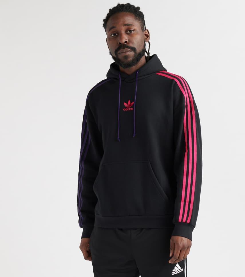 bef60734d217 adidas 3-Stripe Pullover Hoodie (Black) - EC3674-001