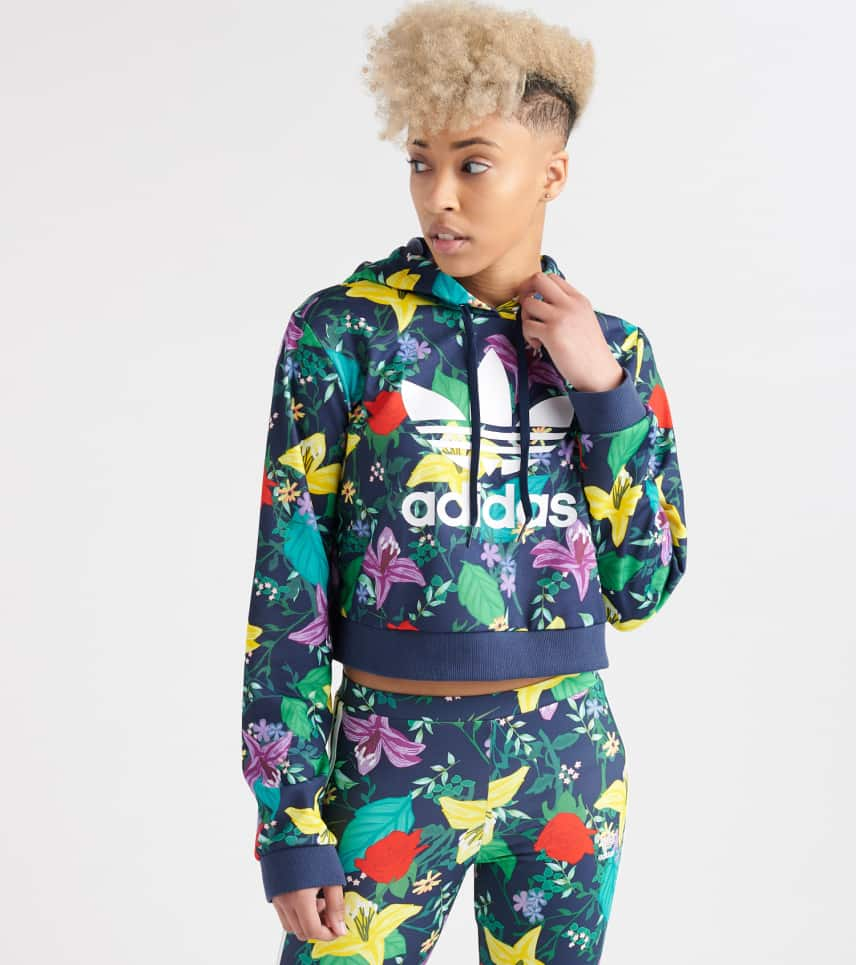 f8381dd6656 adidas adidas Blossom Of Life Cropped Hoodie (Multi-color) - ED6592 ...