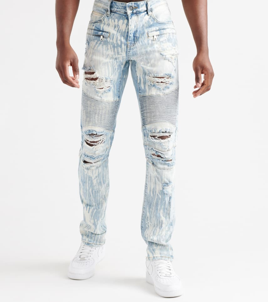 3d193d5b Embellish Peterson Biker Denim Jeans (Blue) - EMBH1181-BLH | Jimmy Jazz