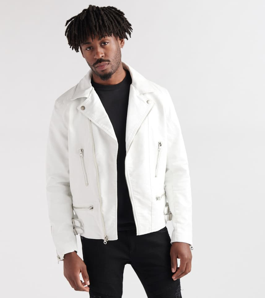 e8c5fe9f Reason Sherling Moto Jacket (White) - F9J1-WHT | Jimmy Jazz