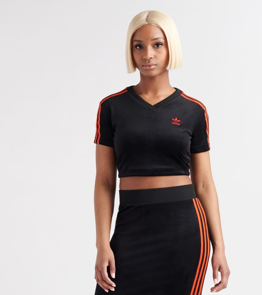 9963980d adidas V-Day Cropped Tee (Black) - FH8559-001 | Jimmy Jazz