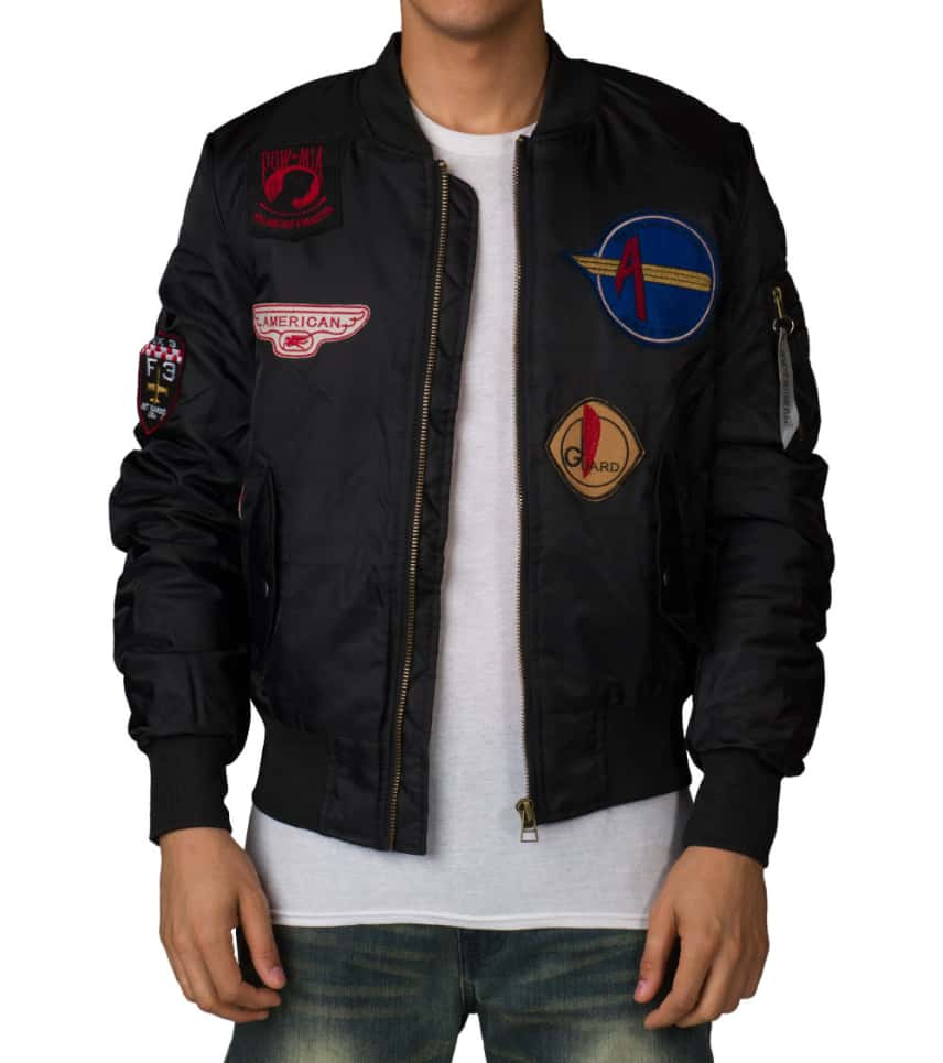 American Stitch Flight Jacket With Patches (Black) - FW16708  d4ff63ea51c
