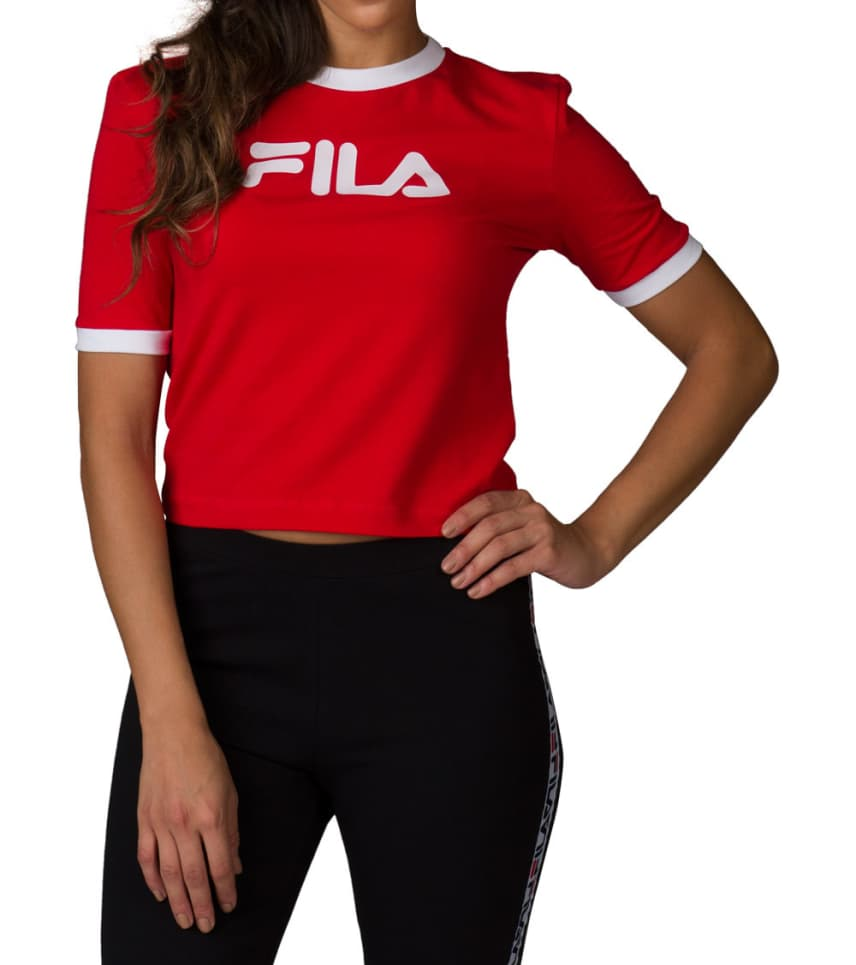 8f1615e0e56 FILA TIONNE CROP TEE (Red) - FWASW003 | Jimmy Jazz
