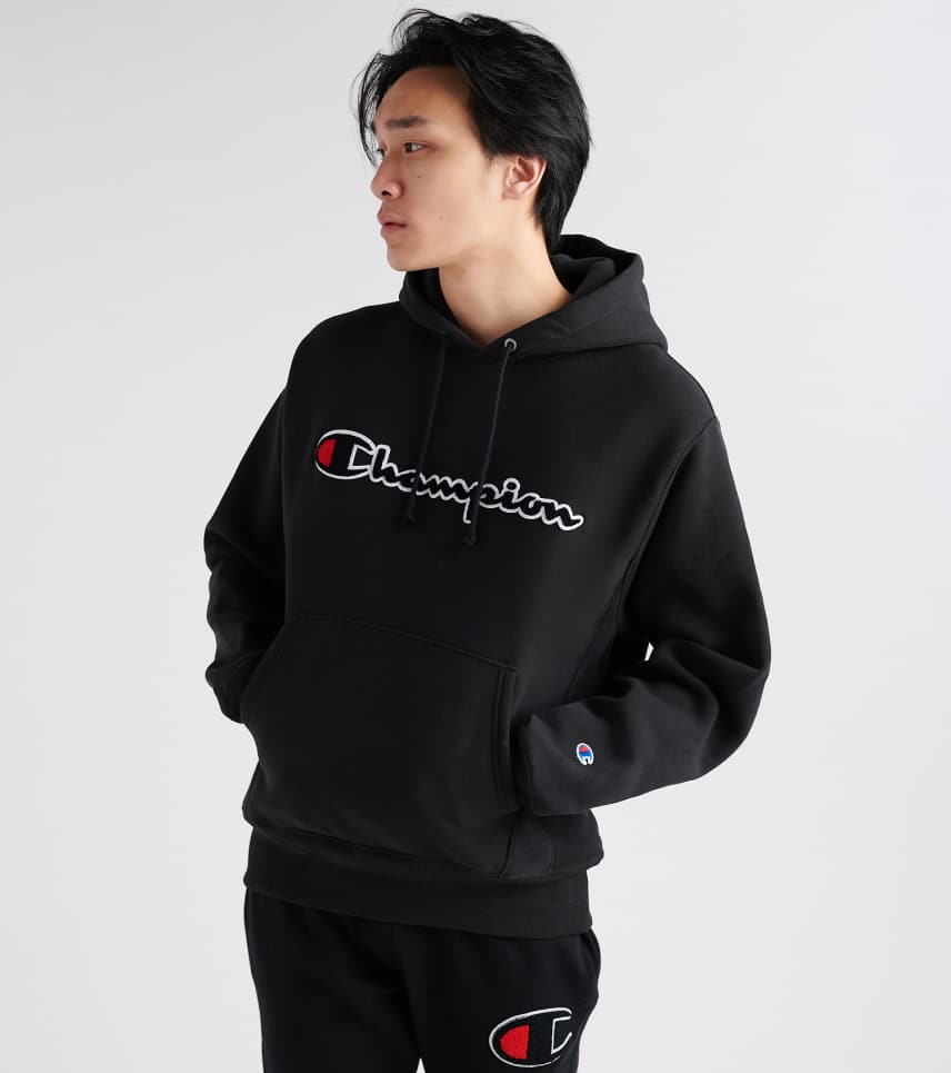 feecb073862c Champion Reverse Weave Pullover Hoodie (Black) - GF68Y0747-BK ...