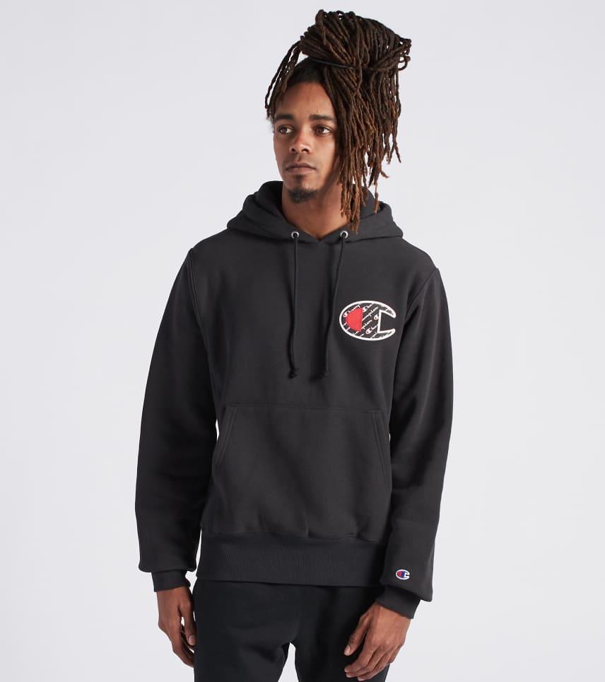 bb3c03dd Champion Reverse Weave Hoodie Sublimated (Black) - GF68Y0777-BK ...