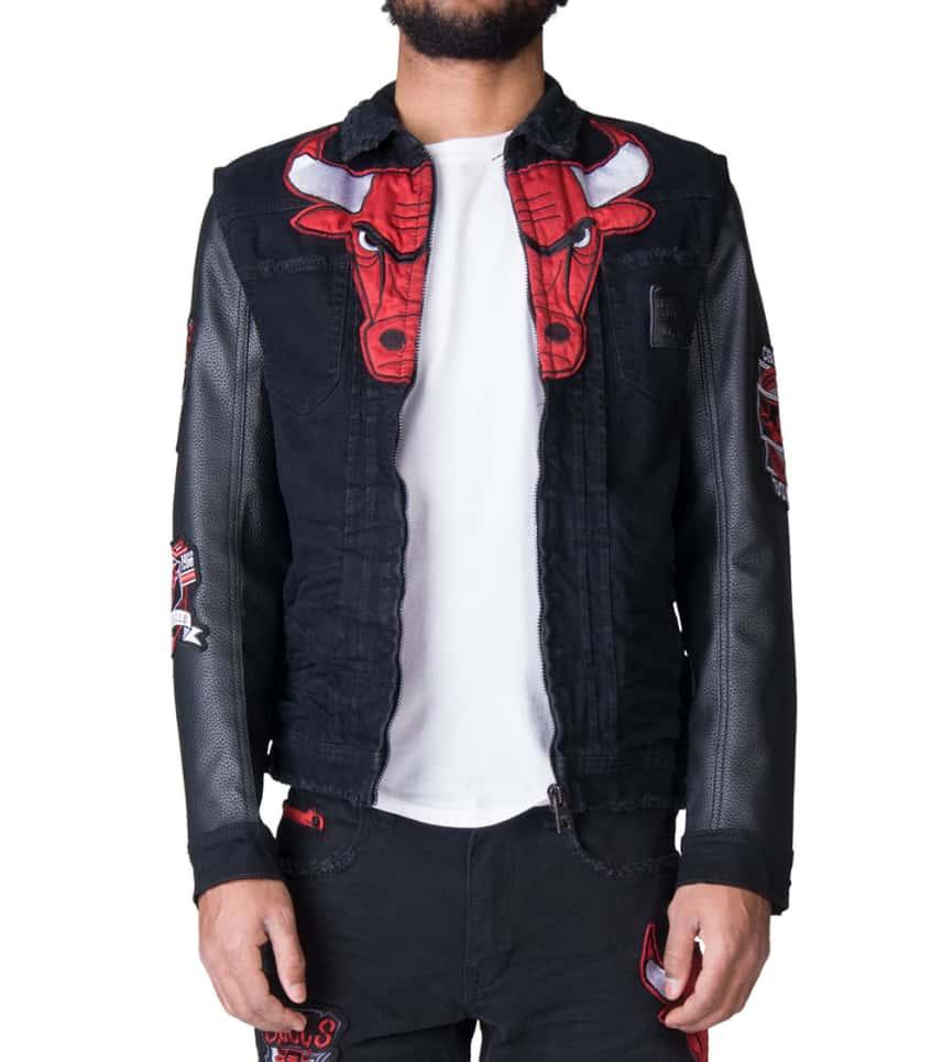 2b0eb26df08 ... UNK Heritage X NBA X UNK Bulls Denim Jacket (Black) - GKM4026HC .. New  Era NY Yankees Bleached Strapback Hat ...