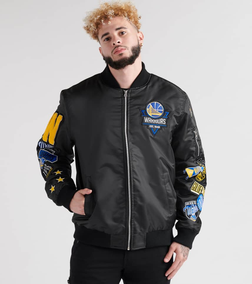 new style ce9fe 283ec UNK Golden State Warriors Bomber Jacket