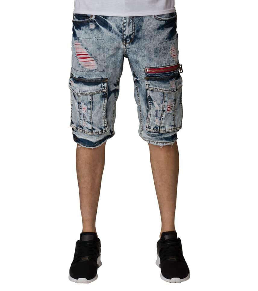 Heritage Red Insert Rip Shorts (Blue) - HAWB493  334b446b03f