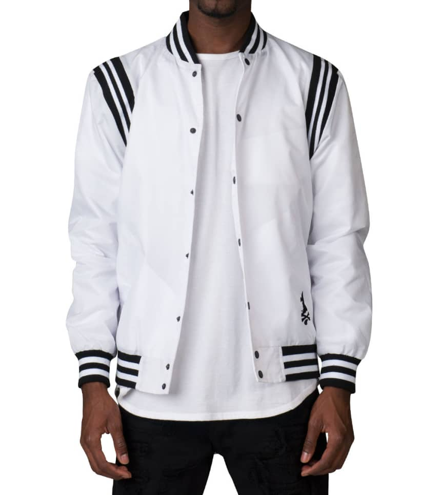 828694fd989a0 Crooks and Castles THE PLAYER WOVEN STADIUM JACKET (White ...